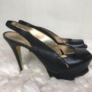 Bebe Sz 6 Black Heels